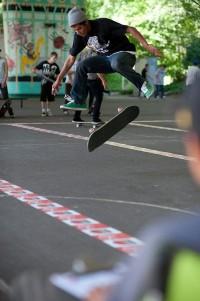 Skater at WJ Park